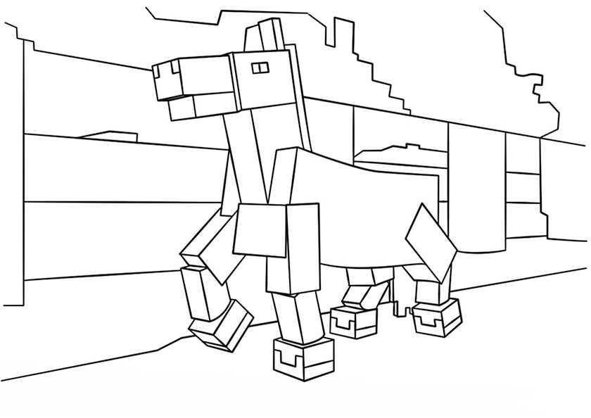 Ausmalbilder Minecraft 15