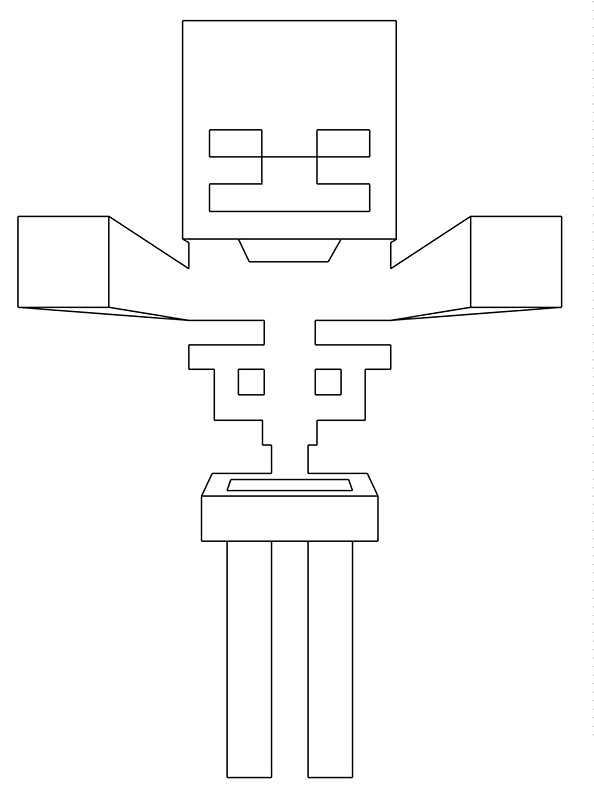 Ausmalbilder Minecraft 17