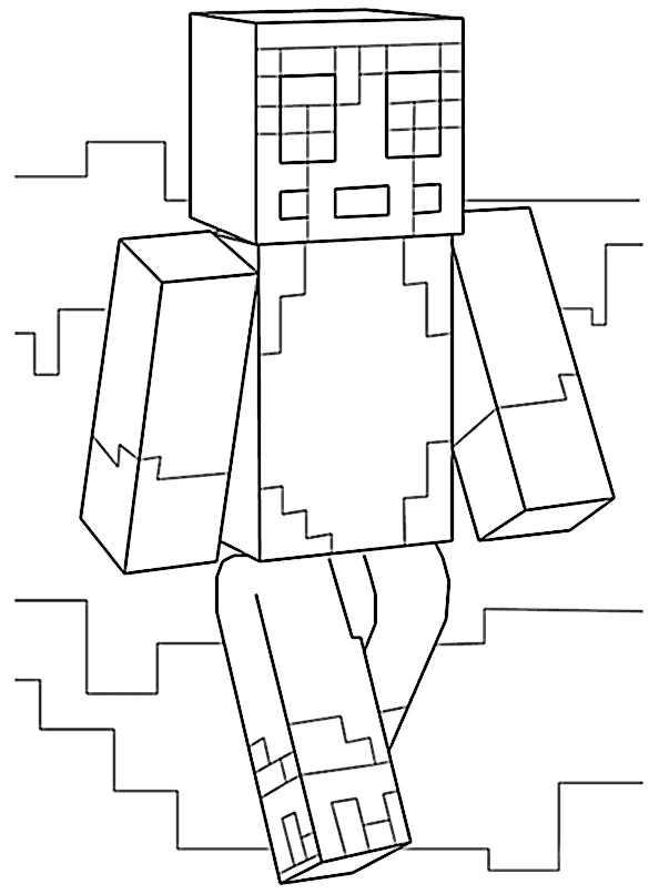Ausmalbilder Minecraft 22