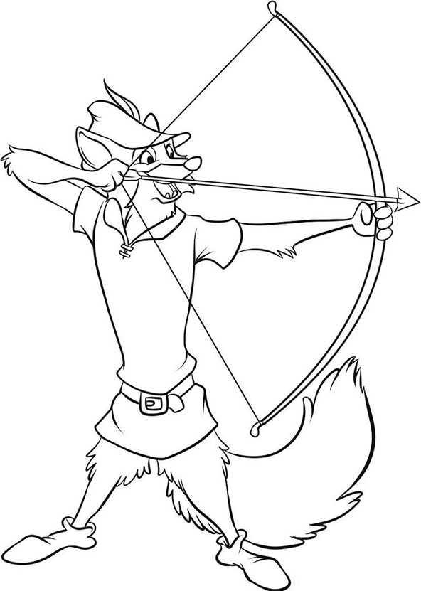 Ausmalbilder Robin Hood 3