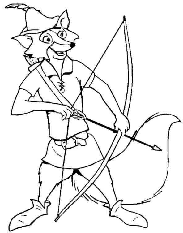 Ausmalbilder Robin Hood 4