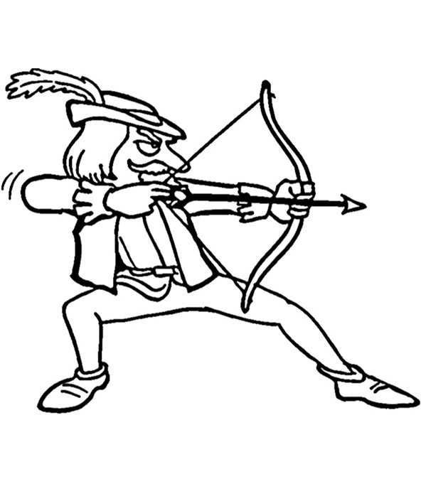 Ausmalbilder Robin Hood 10