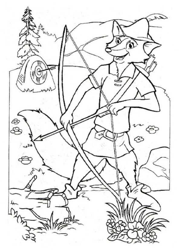 Ausmalbilder Robin Hood 13