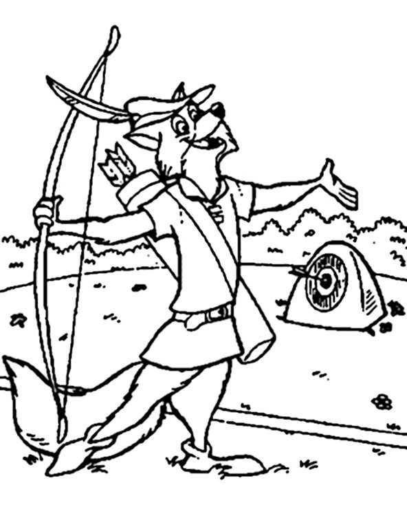 Ausmalbilder Robin Hood 15