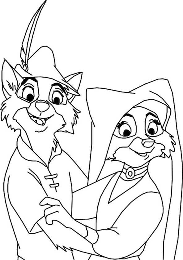 Ausmalbilder Robin Hood 17