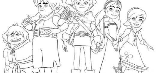 Ausmalbilder Robin Hood 18