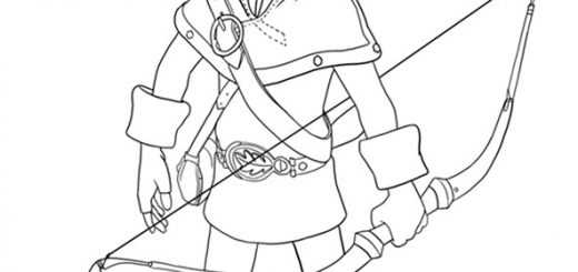 Ausmalbilder Robin Hood 19