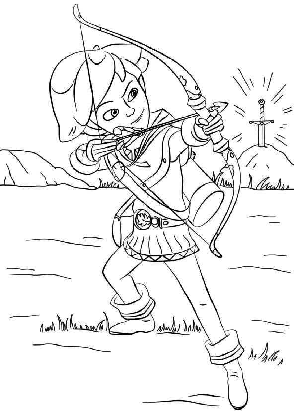 Ausmalbilder Robin Hood Kika. Bild 22