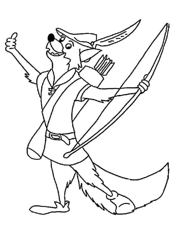 Robin Hood 23 Ausmalbilder Kostenlos