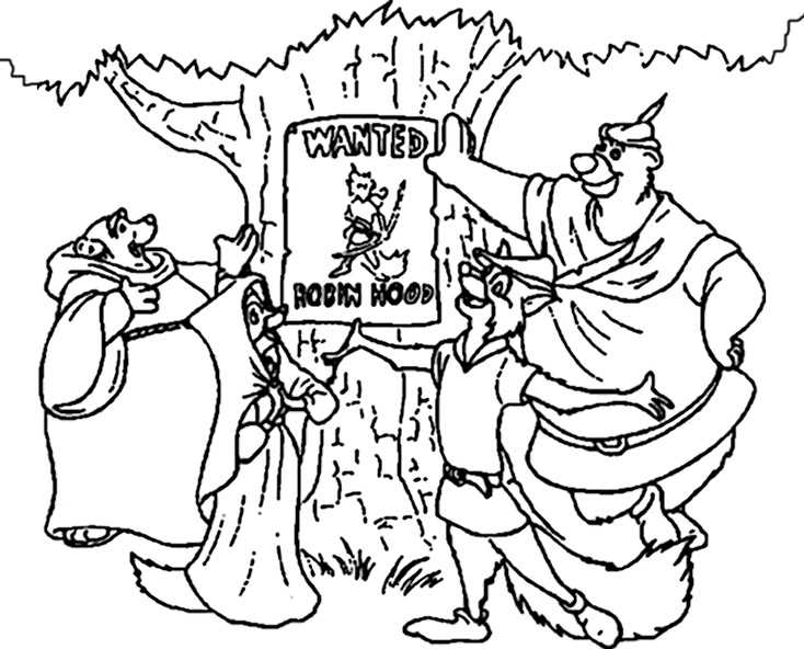 Ausmalbilder Robin Hood 26