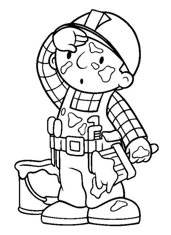 Bob der baumeister ausmalbilder  Bob der Baumeister 9 | Ausmalbilder Kostenlos