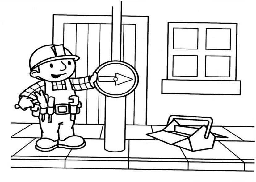 Bob der Baumeister zum ausmalen 16