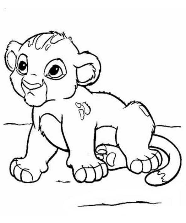 Ausmalbilder Löwe 13