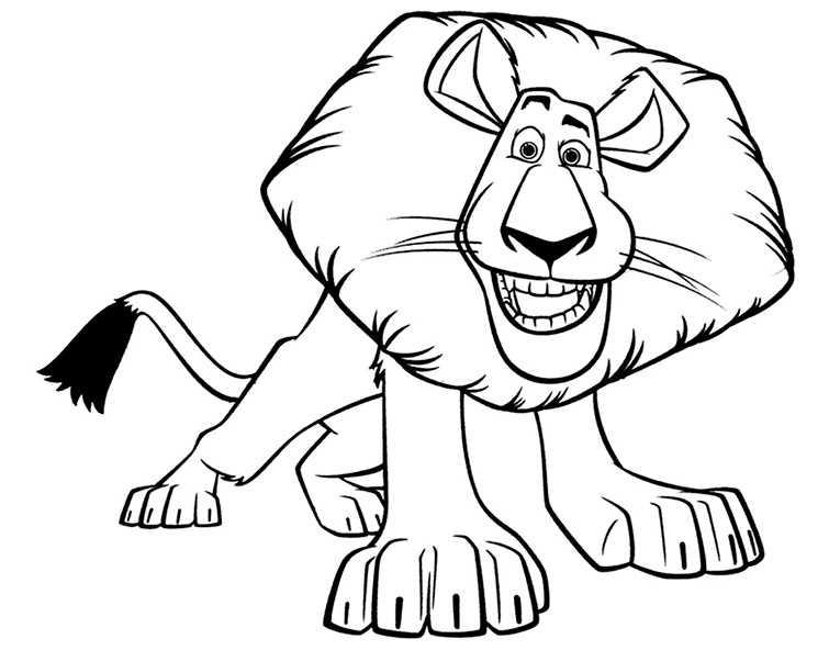 Ausmalbilder Löwe 15