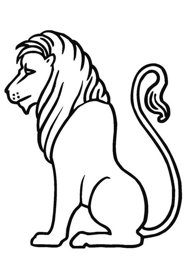 Ausmalbilder Löwe 20