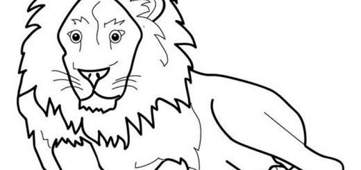 Ausmalbilder Löwe 21
