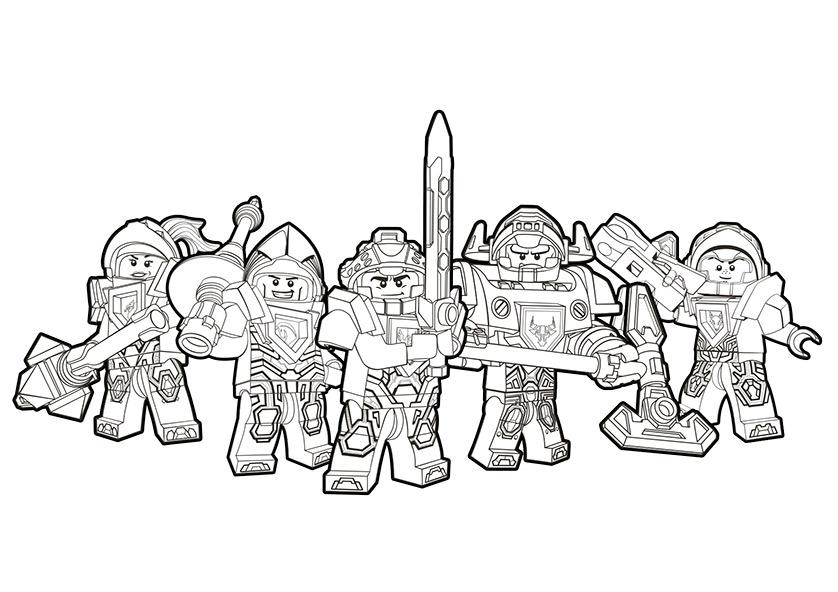 Nexo Knights 20 Ausmalbilder Kostenlos