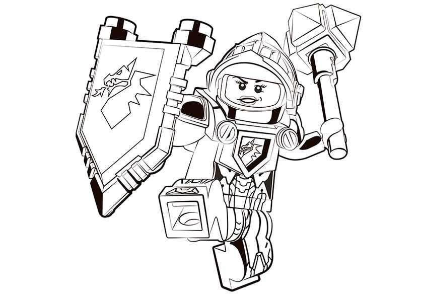 Ausmalbilder Nexo Knights 18