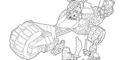 Ausmalbilder Nexo Knights Mobiler Verteidigungsturm 5