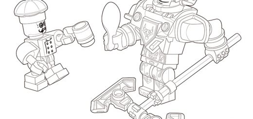 Ausmalbilder Nexo Knights Mobiler Verteidigungsturm 7