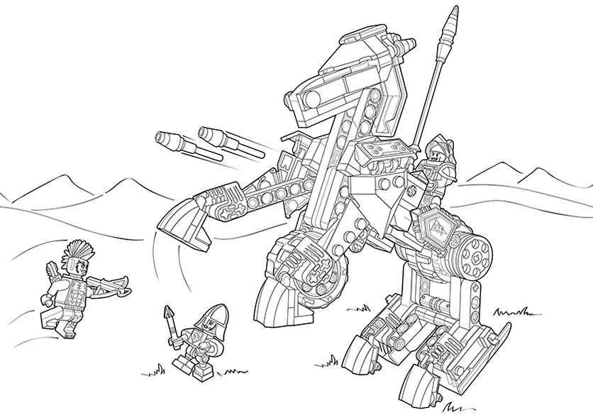 Ausmalbilder Nexo Knights Mobiler Verteidigungsturm 8