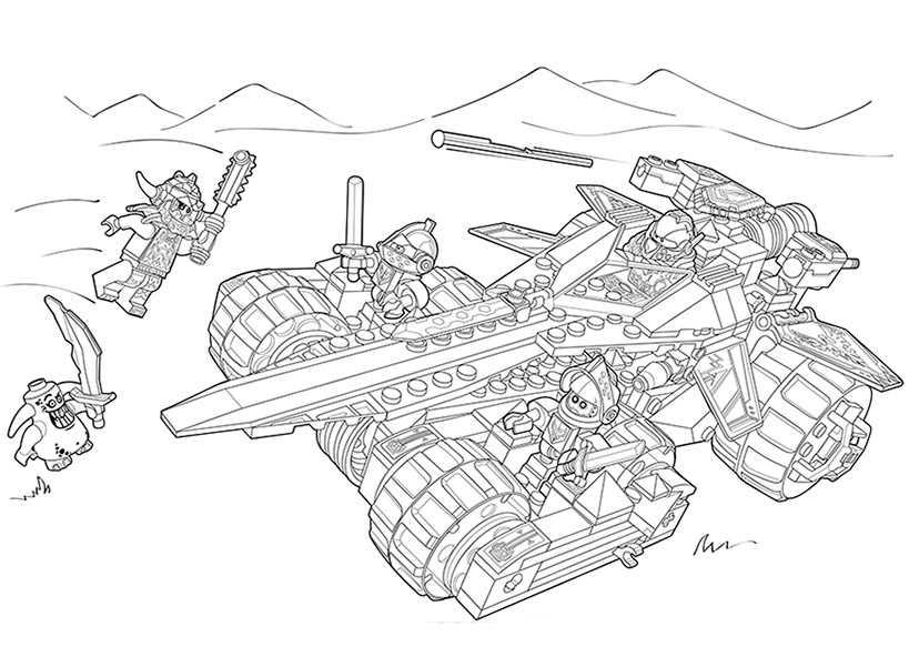 Ausmalbilder Nexo Knights Mobiler Verteidigungsturm 9