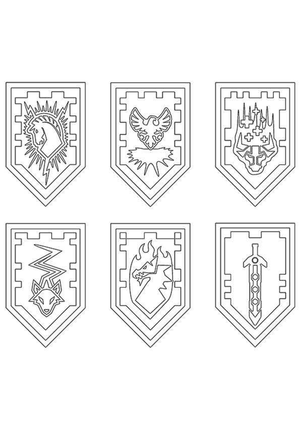 Ausmalbilder Nexo Knights 24