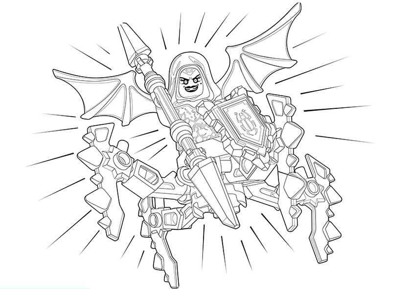 Kleurplaat Minecraft Monsters Nexo Knights 22 Ausmalbilder Kostenlos
