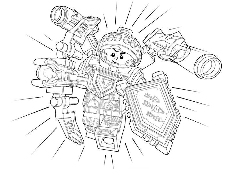 Ausmalbilder Nexo Knights 23