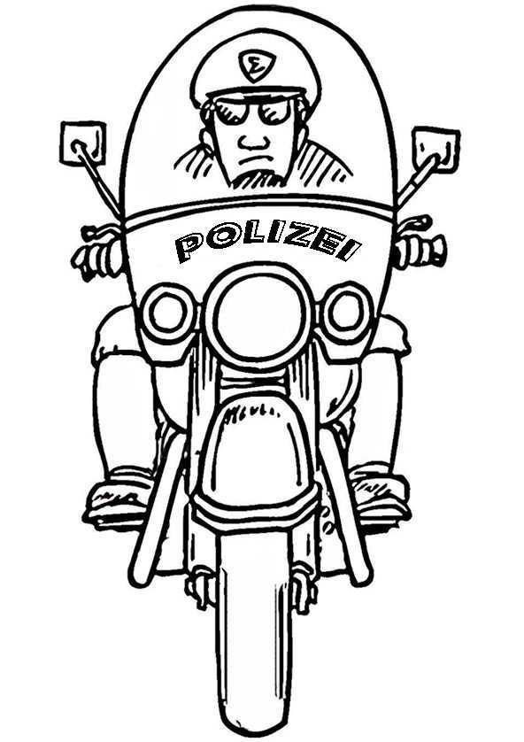 Ausmalbilder Polizeimotorrad 13