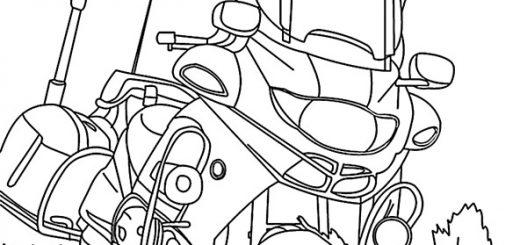 Ausmalbilder Polizeimotorrad 15