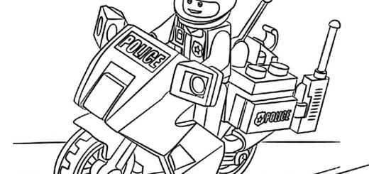 Großartig Lego Ausmalbilder Polizei Motorrad Bilder - Ideen färben ...