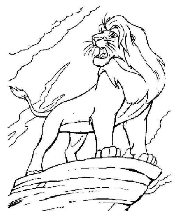 Ausmalbilder Disney Der König der Löwen 16