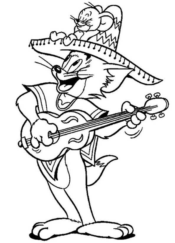 Ausmalbilder Tom und Jerry 9