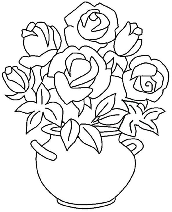 Ausmalbilder Blumen 11