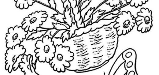 Ausmalbilder Blumen 15