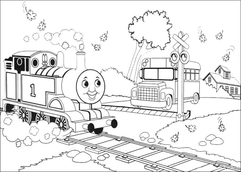 Bilder 1 Thomas die Lokomotive und seine Freunde zum ausdrucken und ausmalen