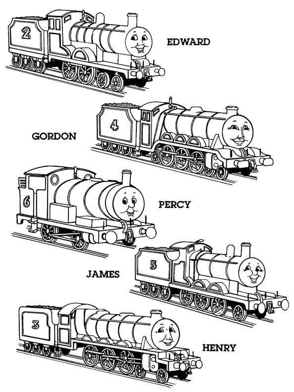 Thomas und seine Freunde zum ausmalen, Bild 4