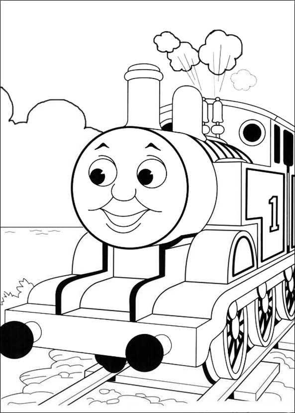 Thomas un seine Freunde ausmalbild 5